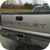 SILVER 99-07 Chevy Pickup Truck Chevrolet Silverado Tailgate Vinyl Letters Decal-21253