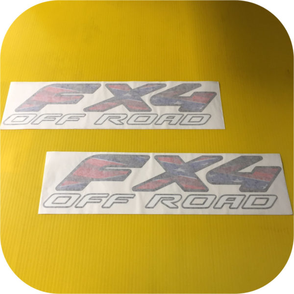2 FX4 WHITE BLUE RED 97-08 Ford Pickup Truck Bed Side Decal Sticker F150 F250-21318