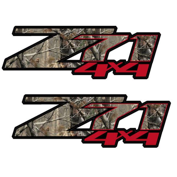 2 Camo Red Z71 Silverado GMC Sierra Pickup Truck Bed Side Decal Sticker 2007-13-0