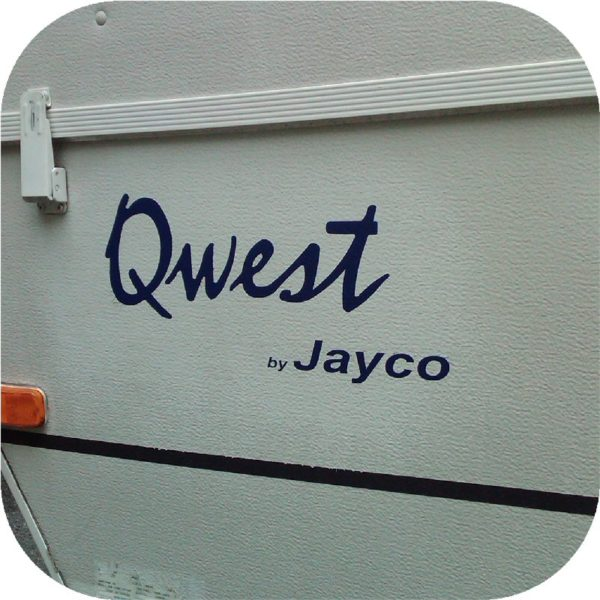 Decals for Jayco Qwest Camper Tent Travel Trailer Stickers Pop Up RV Blue (3)-21518