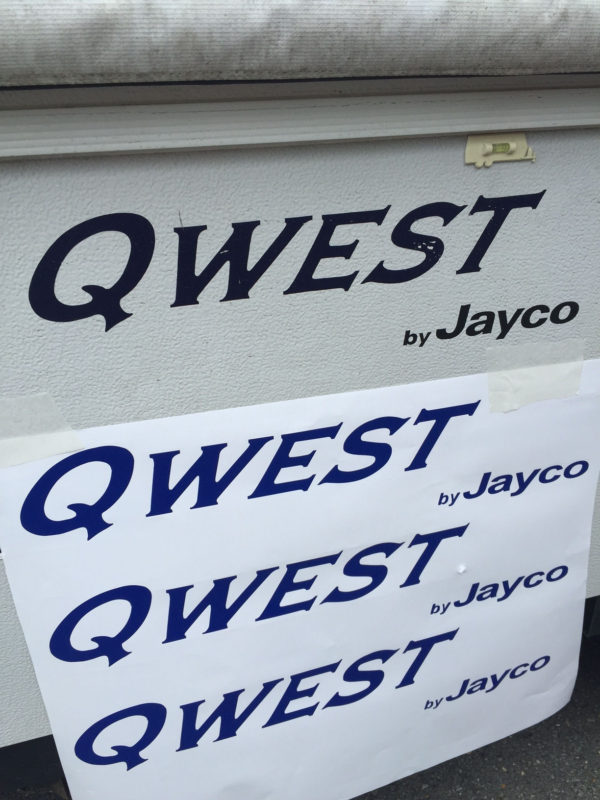 Three Decals for Jayco Qwest Pop Up Camper Travel Trailer Stickers RV Blue-0