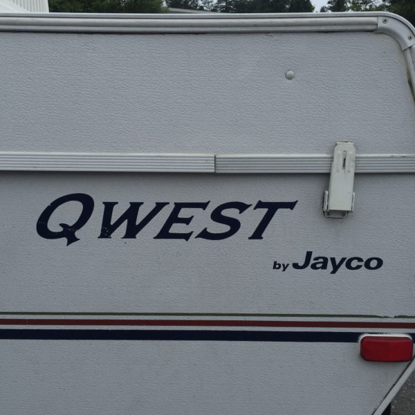Three Decals for Jayco Qwest Pop Up Camper Travel Trailer Stickers RV Blue-21697