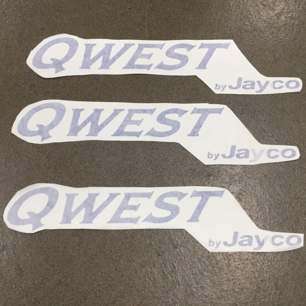 Three Decals for Jayco Qwest Pop Up Camper Travel Trailer Stickers RV Blue-21698