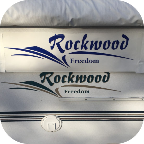 Decals for Rockwood Freedom Pop Up Camper Travel Trailer Stickers 1610 1910 2280-0