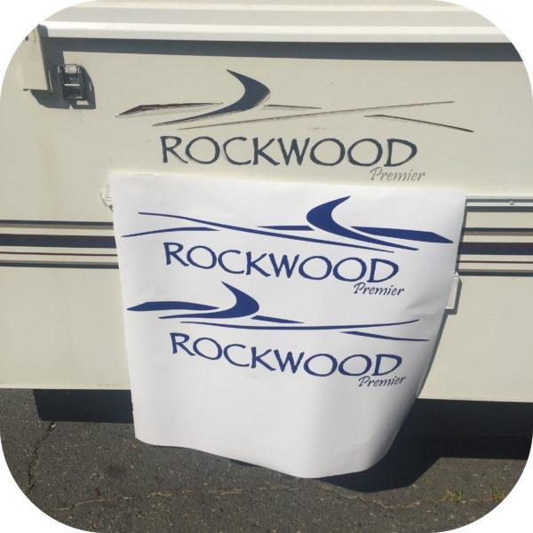 Decals for Rockwood Premier Camper Pop Up Trailer Side Stickers 2 Popup-0
