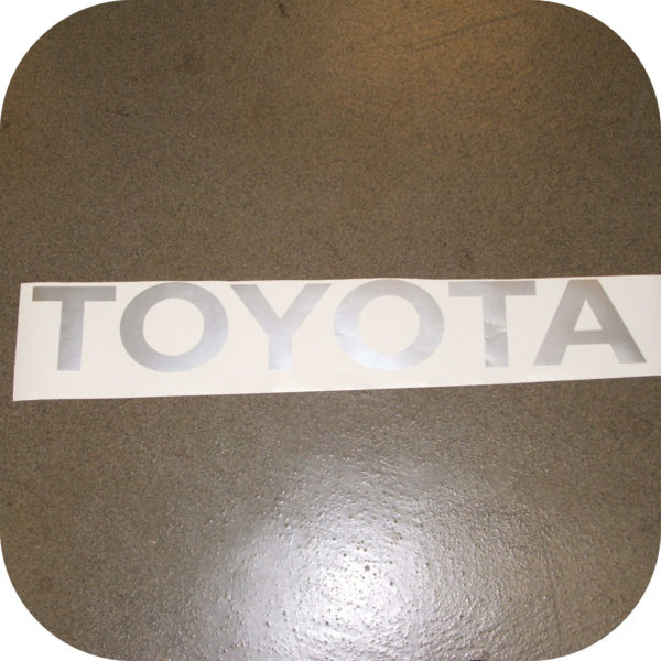 Toyota Pickup Truck Tailgate Letters Sticker Silver Pickup Gray Vinyl Decal-18416