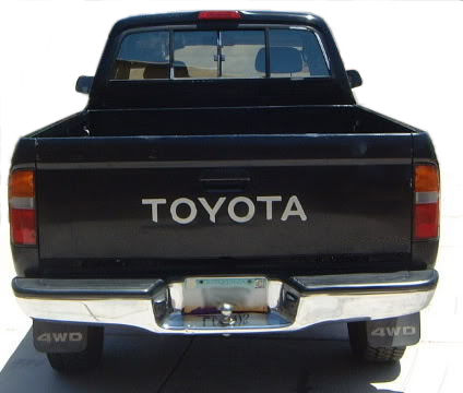 Toyota Pickup Truck Tailgate Letters Sticker WHITE Vinyl Decal Tacoma-0
