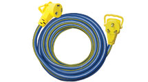 Voltec E-ZEE GRIP Power 15 Foot Extension Cord 30 amp RV camper travel trailer-0