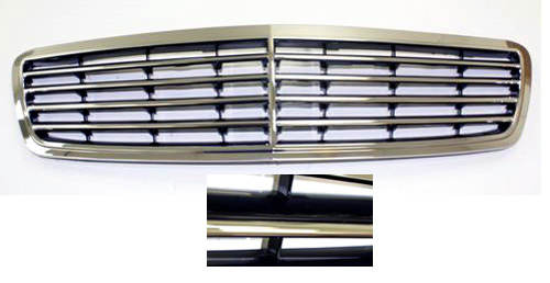 Radiator Grill Mercedes Benz C230 C240 C32 C320 black-0