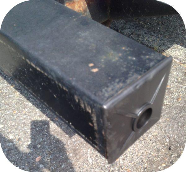 "PAIR 4"" Square Rubber Bumper End Cap Sewer Hose Cover Plug RV Trailer Camper Van-19604"