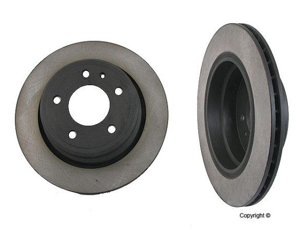 Rear Disc Brake Rotors BMW 740 750 i il 87-95 E32 PAIR-0