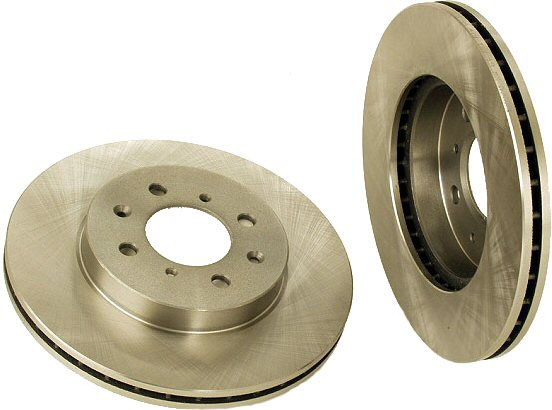2 Front Brake Rotors Acura Integra Honda Civic Del Sol-0