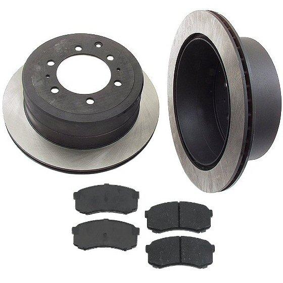 Rear Disc Brake Rotors & Pads Lexus LX450 FzJ80 95-97-0