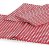 """52""""X84"""" Red White Gingham Tablecloth Pinic Folding Camper Table with Seat Covers-19904"""