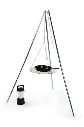 TriPod Grill and Lantern Holder Campfire Camping Light Weight Camper Stove Grill-0