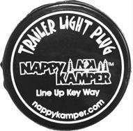 NAPPY KAMPER Trailer Park Tail Lamp Light Plug Camper Travel Trailer Pop Up Camp-0