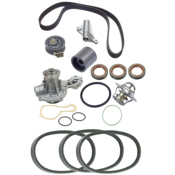 Timing Belt Kit for Audi A4 VW Passat 1.8 Turbo Volkswagen Water Pump Thermostat-0