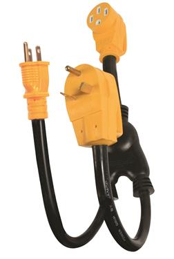 POWERMAX 45 Amp Dual Power Plug In Camper Travel Trailer RV Motorhome 50 Service-0