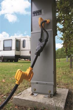POWERMAX 45 Amp Dual Power Plug In Camper Travel Trailer RV Motorhome 50 Service-20644