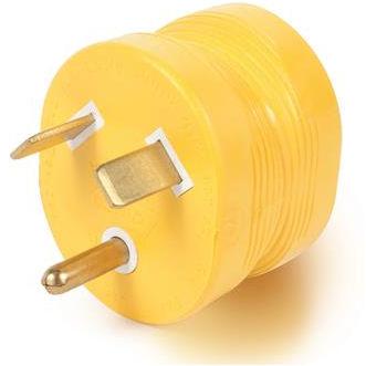 REVERSE 30 amp/ 110v power cord adapter for Camper Travel Trailer Pop Up RV Plug-21162