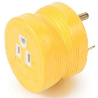 REVERSE 30 amp/ 110v power cord adapter for Camper Travel Trailer Pop Up RV Plug-21163