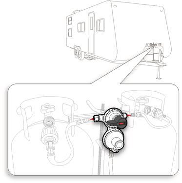 Auto Changeover LP Propane Gas Regulator Camper Travel Trailer RV Popup 2 Stage-20639