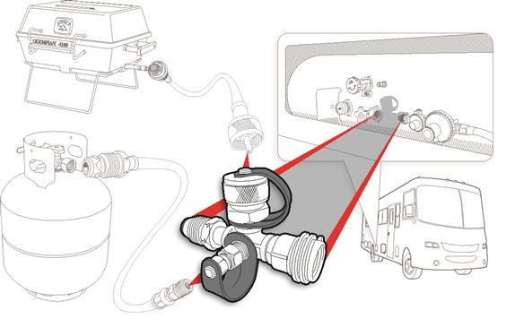 Propane 4 Port Supply Regulator Brass Tee Trailer Camper RV Motorhome LP Gas-20590