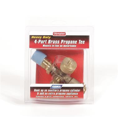 Propane 4 Port Supply Regulator Brass Tee Trailer Camper RV Motorhome LP Gas-20591