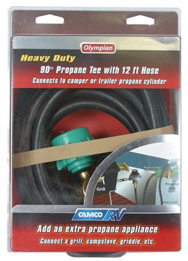 LP Hose Connector Propane Tank Grill Stove Lantern Pop up Camper Travel Trailer-20596