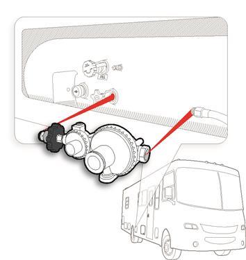 Horizontal Two Stage Propane Regulator Camper Travel Trailer RV Popup LP Gas-20655