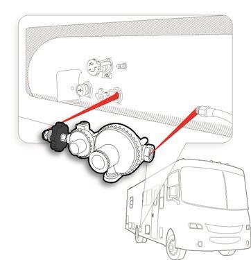 POL Horizontal Two Stage Propane Regulator Camper Travel Trailer RV Popup LP-20659