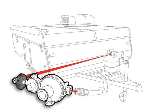 POL Horizontal Two Stage Propane Regulator Camper Travel Trailer RV Popup LP-20660