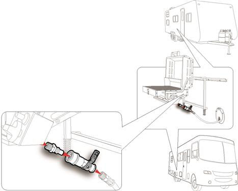 Quick-Connect Kit for Low Pressure Propane Tank Pop Up Travel Trailer Camper-20569