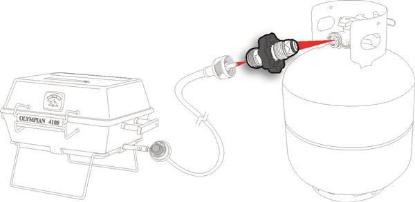 "Propane 1"" Cylinder Wheel Adapter Pop Up Travel Trailer Camper RV LP Gas-20573"