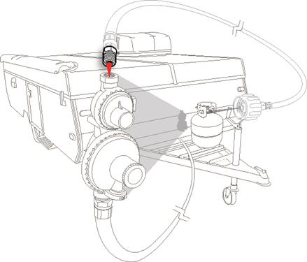 Propane Hose Regulator 1/4 Inch NPT Port Adapter Pop up Camper Travel Trailer RV-20665