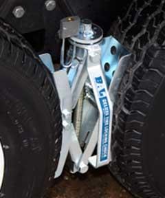 DELUXE TIRE LOCKING CHOCK Camper Travel Trailer Pop Up Wheel Car Stabilizer-0