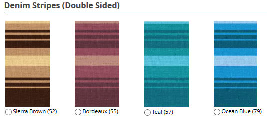 12 ft Campout Bag Awning in Bordeaux Burgundy Stripes for Pop Up Camper Trailer-21031