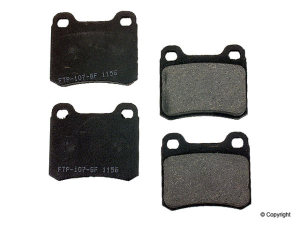 Rear Disc Brake Pads Mercedes Benz 190 E D 201 2.3 2.5-0