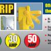 Voltec E-ZEE GRIP Power Cord Adapter 50 M/30F AMP RV Camper Travel Trailer Cord-6492