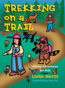 Gibbs Smith Trekking on a Trail Guide Book Manual Camper Hiker Tent Hiking Fire-0