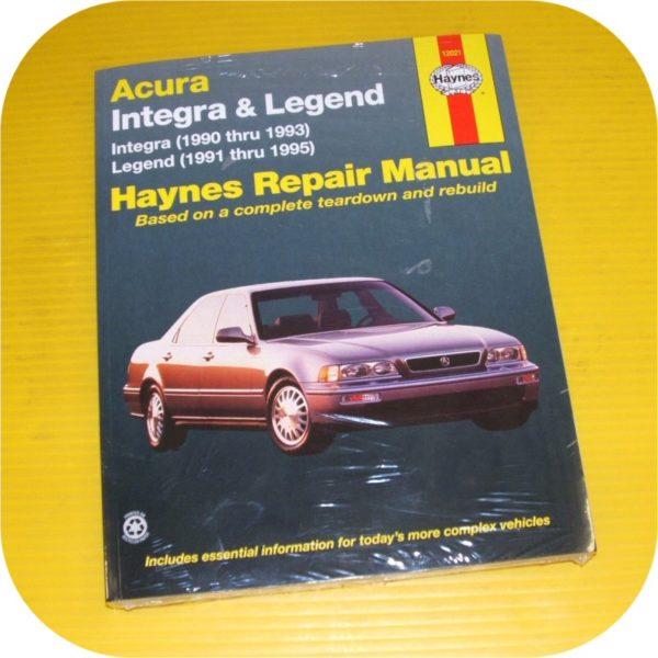 Repair Manual Book Acura Integra & Legend 90-95 owners-0