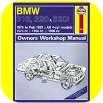 Repair Manual Book BMW 320i 320 E21 M10 Owners Workshop-0