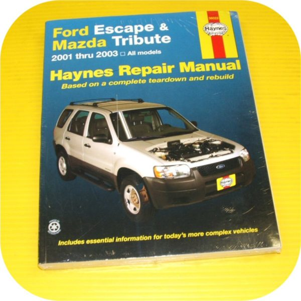 Repair Manual Book Ford Escape Mazda Tribute 01-03 NEW-0