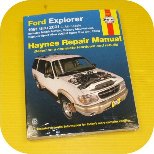 Repair Manual Book Ford Explorer Navajo Mountaineer NEW-0