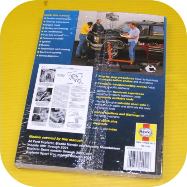 Repair Manual Book Ford Explorer Navajo Mountaineer NEW-11487