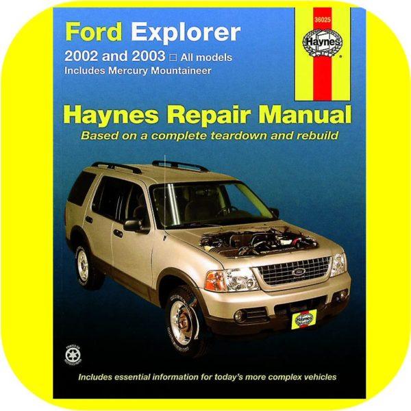 Repair Manual Book Ford Explorer Mercury Mountaineer-0