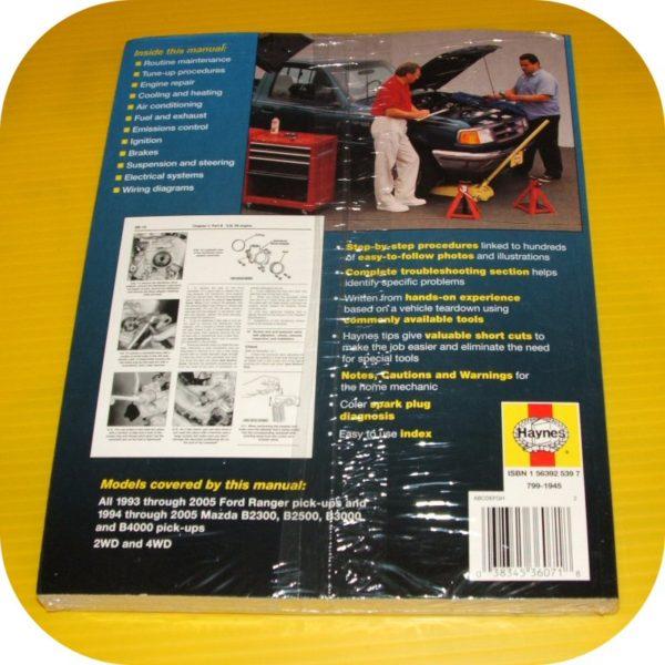 Repair Manual Book Ford Ranger Pickup Truck 93-05 NEW-11514