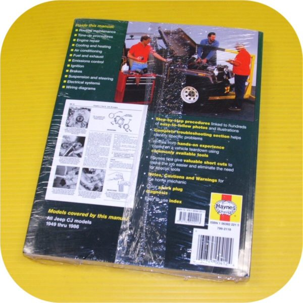 Repair Top Shop Manual Book Jeep CJ5 CJ7 CJ8 Scrambler-1309