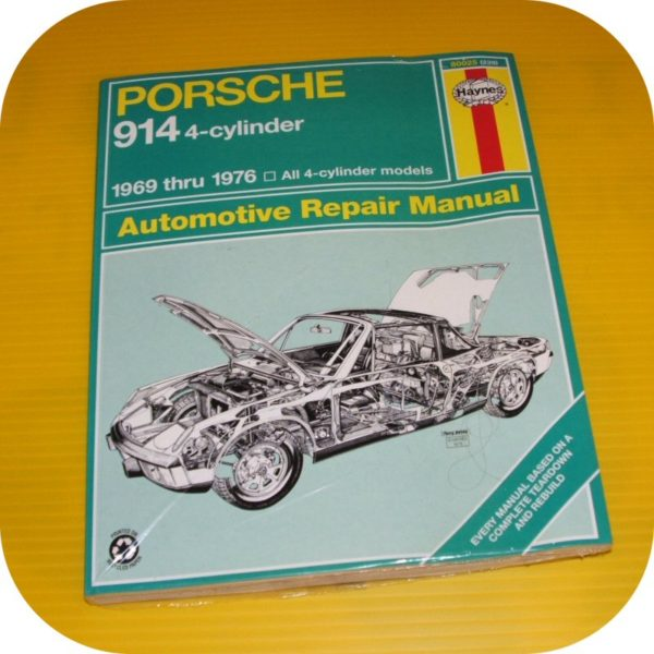 Repair Manual Book Porsche 914 Owners 69-76 914/4 NEW-0