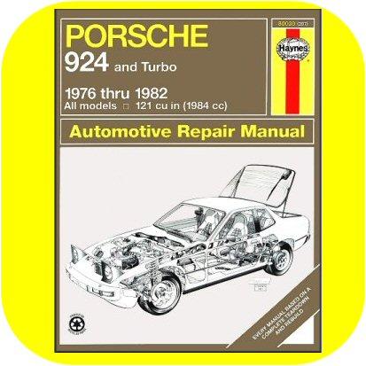 Repair Manual Book Porsche 924 & Turbo Owners 76-82 NEW-0